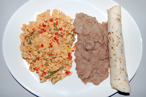 huevos a la mexicana or mexican scrambled eggs is a hearty traditional ...
