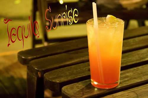 World famous tequila sunrise for Best tequila for tequila sunrise