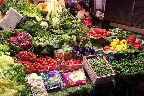 verduras stand