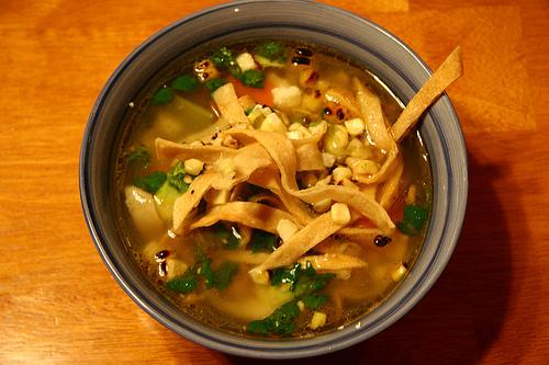Tortilla soup with zucchini recipes