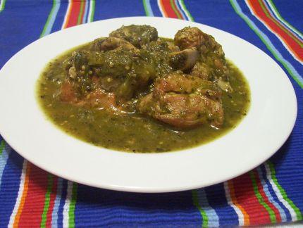 Recipe for pork in green sauce