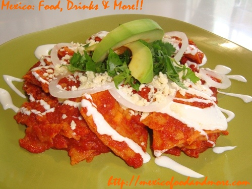 Mexican Red Chilaquiles