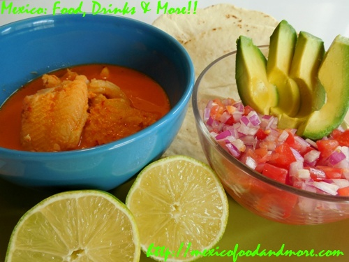 Fish in Coconut-Guajillo Sauce